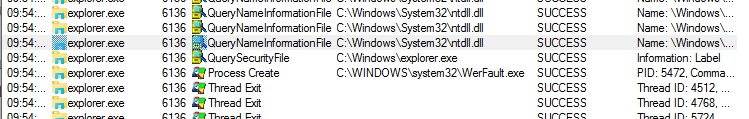 Finding what's causing Windows 10 explorer constantly